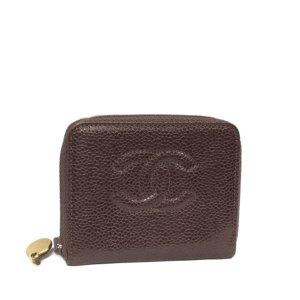 Chanel Wallet bordeaux leather