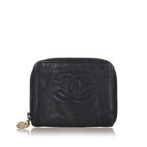 Chanel Portmonetka czarny Skóra