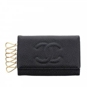 Chanel CC Caviar Leather Key Holder