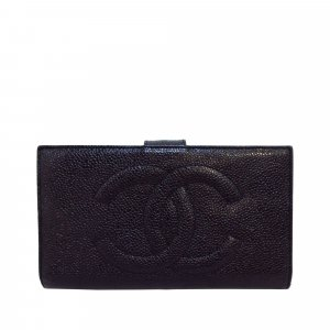 Chanel Portemonnee zwart Leer