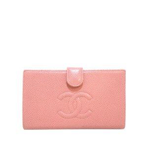 Chanel Portemonnee lichtroze Leer