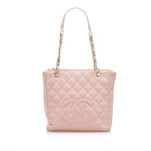 Chanel Bolso de compra rosa Cuero
