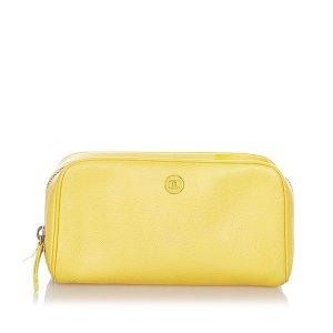Chanel Sac seau jaune cuir