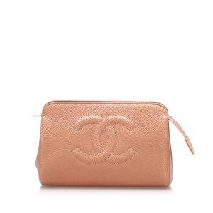 Chanel Sac seau orange cuir
