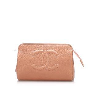 Chanel Torebka typu worek pomarańczowy Skóra