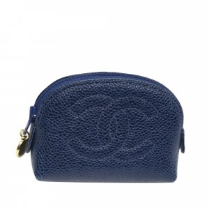 Chanel Pouch Bag blue leather