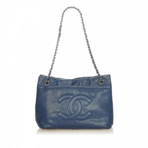 Chanel Tote blue leather