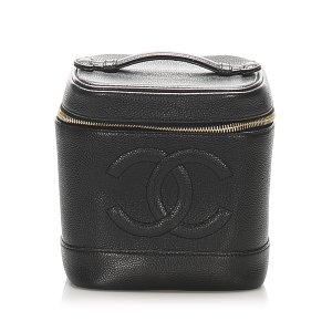 Chanel Neceser de belleza negro Cuero