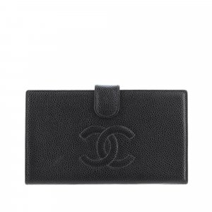 Chanel CC Caviar Leather Wallet