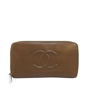 Chanel Portemonnee bruin Leer
