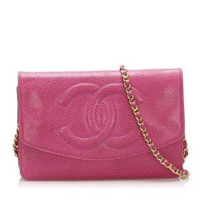 Chanel CC Caviar Wallet on Chain