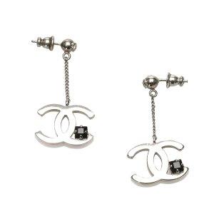 Chanel CC Chain Drop Earrings