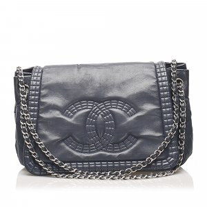 Chanel CC Chain Lambskin Leather Shoulder Bag