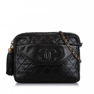 Chanel CC Classic Lambskin Leather Crossbody Bag