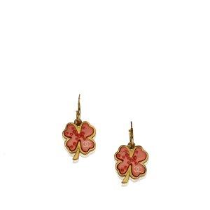 Chanel CC Clover Push Back Drop Earrings