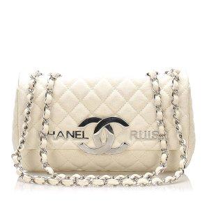Chanel CC Cruise Line Canvas Flap Bag