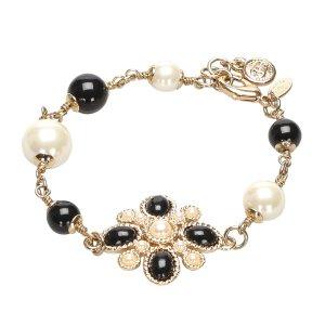 Chanel CC Faux Pearl Bracelet