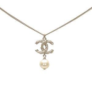 Chanel Collier argenté métal