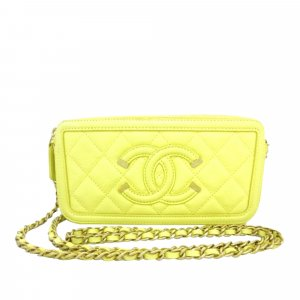 Chanel CC Filigree Caviar Leather Crossbody Bag