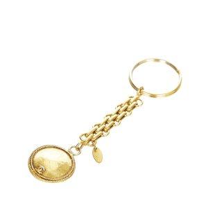 Chanel CC Gold-tone Key Chain