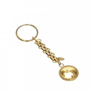 Chanel Key Chain gold-colored metal
