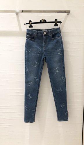 CHANEL CC Highwaist Jeans denim blue Gr.36 •NEU•