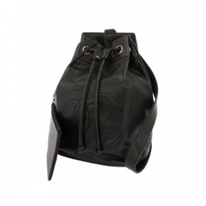 Chanel CC Lambskin Leather Backpack