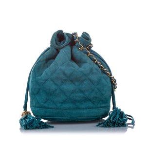 Chanel CC Lambskin Leather Bucket Bag