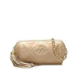 Chanel Crossbody bag beige leather