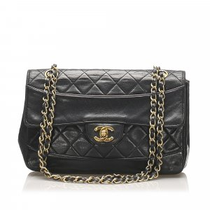 Chanel CC Lambskin Leather Flap Bag