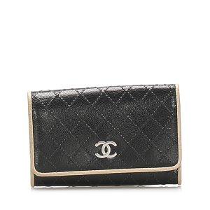 Chanel Etui voor sleutels zwart Leer