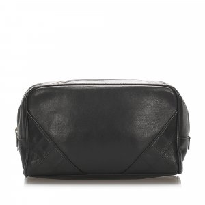 Chanel CC Lambskin Leather Pouch