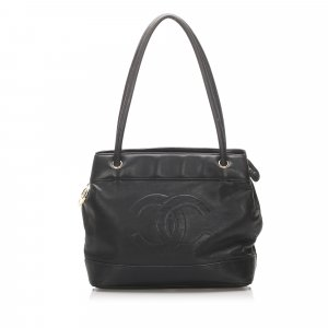 Chanel CC Lambskin Leather Tote Bag