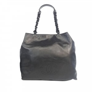 Chanel CC Leather Chain Tote