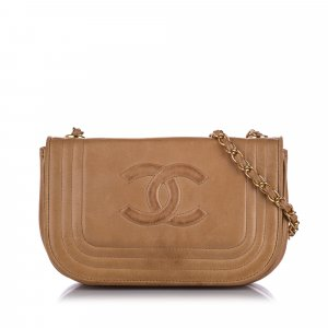 Chanel CC Leather Crossbody Bag