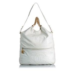 Chanel Sac hobo blanc cuir