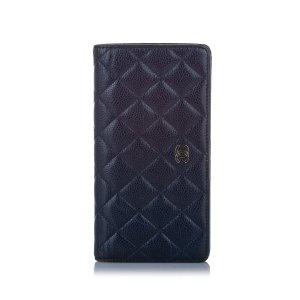 Chanel Wallet dark blue leather
