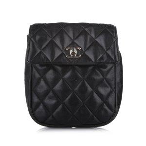 Chanel CC Matelasse Lambskin Leather Crossbody Bag