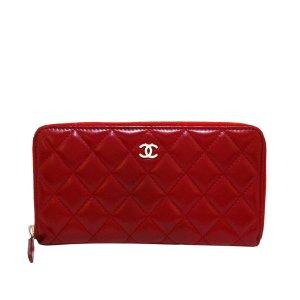 Chanel Portemonnee rood Leer