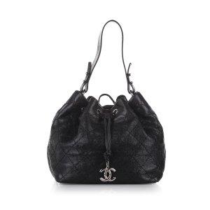Chanel CC Matelasse Leather Bucket
