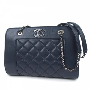 Chanel CC Matelasse Leather Chain Shoulder Bag