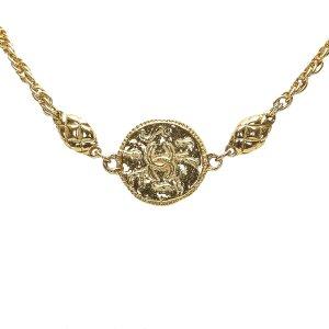 Chanel CC Matelasse Necklace