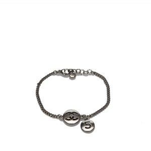 Chanel Braccialetto sottile argento Metallo