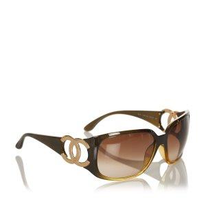 Chanel Occhiale da sole marrone
