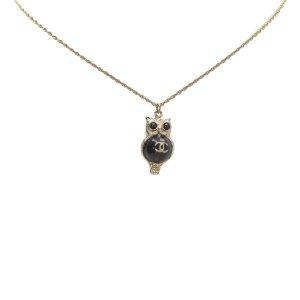 Chanel CC Owl Pendant Necklace
