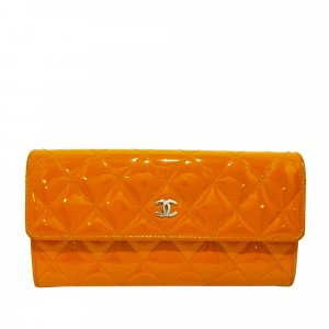 Chanel CC Patent Leather Long Wallet