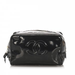 Chanel CC Patent Leather Pouch