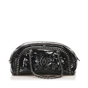 Chanel CC Patent Leather Shoulder Bag