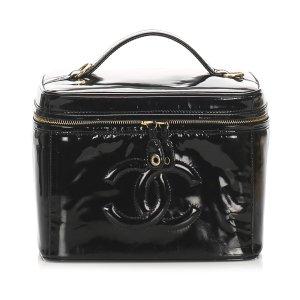 Chanel CC Patent Leather Vanity Bag