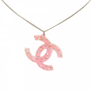 Chanel Collana rosa pallido